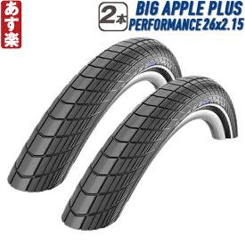 【返品保証】 SCHWALBE シュワルベ BIG APPLE PLUS ビッグアップルプラス MTB タイヤ 2本セット 26x2.15 【あす楽】