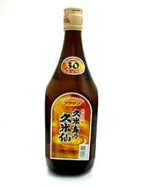 泡盛30度【久米島の久米仙 ブラウン(720ml)】【○】※酒類購入の場合未成年者へのお酒販売を防ぐ為、生年月日の確認を行います。確認できない場合ご注文が継続できかねますのでご了承ください。