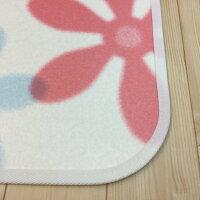 拭ける撥水キッチンマット45cm×240cm【フラワー】かわいい清潔抗菌防カビ防炎日本製滑り止め
