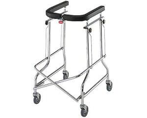 [星光医療器製作所] アルコー1S型 100415 歩行器 歩行車 介護用 高齢者用 大人用 室内用 歩行補助 歩行訓練 リハビリ コンパクト 折りたたみ可能 病院 施設 自宅