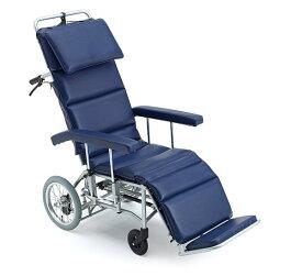 [ミキ] MFF-50 フルリクライニング 車椅子 介助式 エアタイヤ仕様 折りたたみ可能 足踏み式駐車ブレーキ付 耐荷重100kg MiKi