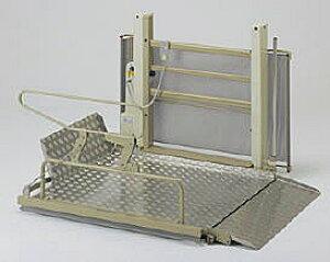 [いうら] 車椅子用電動昇降機 屋外用 UD-650 介護 リフト 昇降高さ6〜82cm 直進乗り込み L字乗り込み 耐荷重180kg 個人宅向け