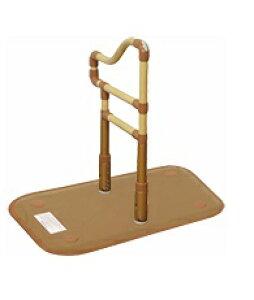[山崎産業] 楽起 らっきぃ 波型 介護 玄関 段差昇降 置き型 置くだけ 簡単設置 工事不要 重量21kg 手すり高さ71〜85cm