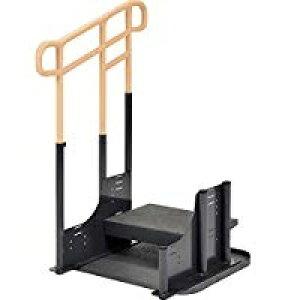[モルテン] ルーツ アウトドア 段差タイプ ステップ台1段 片手すり MNTPOKS1L MNTPOKS1R 介護 屋外 屋内 掃出し窓 ベランダ 土間 段差昇降支え 置き型 置くだけ 簡単設置 工事不要 重量50.4kg 手すり