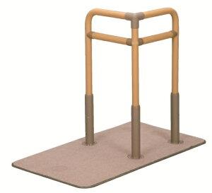 [シコク] ベストサポート手すり3 625-030 置き型手すり 置くだけ 簡単設置 介護 ベッドサイド 寝室 居間 ソファ 立ち上がり 起き上がり 重量16.3kg 手すり高さ70/75/80cm 微笑