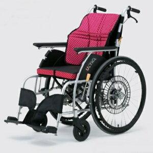 【法人宛送料無料】 日進医療器 車椅子 自走式 自動ブレーキ ULTRA ウルトラ NA-U1 G-Guard2 ジーガード 折り畳み 座クッション付 座り心地快適 エアタイヤ仕様 耐荷重100kg 座幅38/40/42cm インディゴ