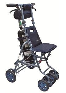 [島製作所] サニー 酸素ボンベカー シルバーカー 押し車 カート 介護用 高齢者用 大人用 屋外用 歩行補助 酸素ボンベ 搭載可能 折りたたみ