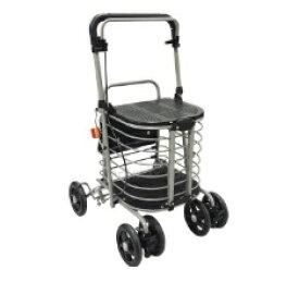 [島製作所] ハーモニーAL2 シルバーカー 押し車 買い物カゴ置き付 介護用 高齢者用 歩行補助 折りたたみ可能 SHIMA