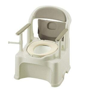 [リッチェル]ポータブルトイレ きらく PY2型 やわらか便座 47540