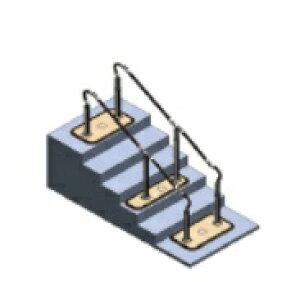 [パナソニック] 歩行サポート手すり スムーディ 両手すり ロング 2050タイプ XPN-L80606 介護 屋外 階段 置き型 置くだけ 設置 工事不要 工事無し Panasonic