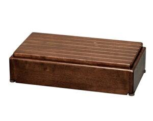 [アロン化成] 安寿 木製玄関台 高さ調整タイプ S60W-30-1段 535-574 535-576 幅60×奥行30×高さ15~22.5cm ステップ台 踏み台 昇降 段差解消