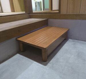 [パナソニック] 木製玄関ステップ AF6040 幅60×奥行40×高さ12〜15cm 踏み台 玄関台 昇降 段差解消