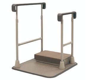 [タマツ] すりてあsix 両手すりSL ST6F-SL (踏み台有り) 置き型 手すり 工事不要 工事無し 室内用 介護 高齢者 玄関 上がり框 段差 昇降