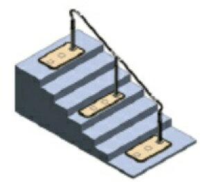 [パナソニック] 歩行サポート手すりスムーディ 片手すり ロング2400伸縮タイプ XPN-L80617 介護 屋外 階段 置き型 置くだけ 設置 工事不要 工事無し Panasonic