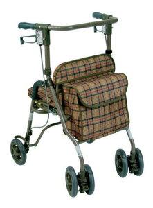[島製作所] シンフォニーSP 歩行器 歩行車 押し車 介護用 高齢者用 大人用 屋外用 歩行補助 リハビリ イス付 折りたたみ 病院 施設 自宅