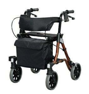 [アロン化成] トライリンク 532-320 歩行器 歩行車 押し車 介護用 高齢者用 大人用 屋外用 歩行補助 リハビリ イス付 袋付 折りたたみ可能 耐荷重150kg