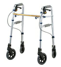 [イーストアイ] セーフティーアーム Vタイプウォーカー SAV 歩行器 歩行車 介護用 高齢者用 大人用 室内用 屋内用 歩行補助 歩行訓練 リハビリ コンパクト ブレーキ付 折りたたみ可能 病院 施設 自宅