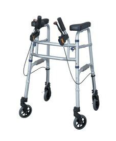 [イーストアイ] セーフティーアーム UXタイプウォーカー SAUX 歩行器 歩行車 介護用 高齢者用 大人用 室内用 屋内用 歩行補助 歩行訓練 リハビリ コンパクト 折りたたみ可能 ブレーキ付 病院 施設 自宅