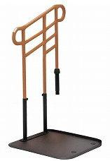 [モルテン] 床置き型手すり ルーツ あがりかまちタイプ 高さH型・片手すり(対応段差:18〜36cm) MNTPKH1BR