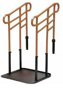 [モルテン] ルーツ あがりかまちタイプ 高さH型 両手すり MNTPKH2BR ステップ台無し 介護 玄関 段差昇降支え 置き型 置くだけ 簡単設置 工事不要 重量42.2kg 手すり高さ78〜85cm 対応段差18〜36cm molte
