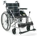 [カワムラサイクル] アルミ製自走用車いす KV22-40SB (介助ブレーキ付・ノーパンクタイヤ仕様