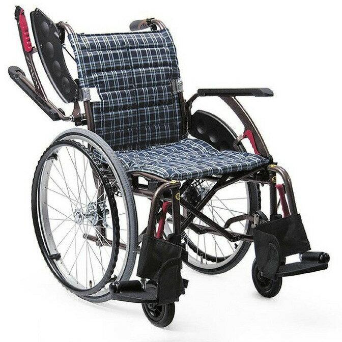 [カワムラサイクル] 自走用標準車いす WAVIT+ (ウェイビットプラス) WAP22-40S WAP22-42S (ノーパンクソフトタイヤ(軽量)仕様・介助ブレーキ付)
