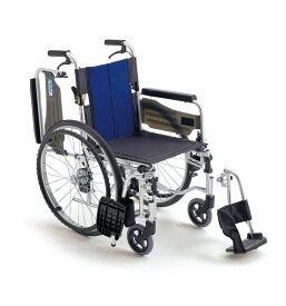 [ミキ] アルミフレーム自走用車いす BAL-3 (ウイング・スイングアウト ノーパンクタイヤ・介助ブレーキ付)