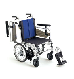 【法人宛送料無料】 ミキ 車椅子 介助式 BAL-6 多機能タイプ 座面高調整 ノーパンクタイヤ仕様 肘掛跳ね上げ 脚部スイングアウト リーズナブル 折りたたみ 座幅40cm 耐荷重100kg MiKi