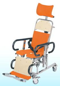 [睦三] シャワーキャリー AL IV (フォー) 背足連動無段階リクライニング AL4 No.5600 車椅子 入浴用 お風呂用 シャワー用 フルフラット 介助式 安全ベルト付 病院 施設 デイサービス MUTSUMI