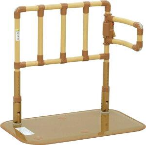 [山崎産業] 楽起 らっきぃ ワイド介助バー型 YM-108L-ID 置き型手すり 置くだけ 簡単設置 介護 ベッドサイド 寝室 居間 ソファ 立ち上がり 起き上がり 歩行補助 重量22kg 手すり高さ71〜85cm