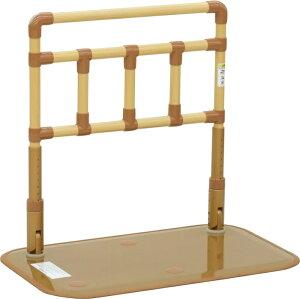 [山崎産業] 楽起 らっきぃ ワイド縦型 YM-109L-ID 置き型手すり 置くだけ 簡単設置 介護 ベッドサイド 寝室 居間 ソファ 立ち上がり 起き上がり 歩行補助 重量21kg 手すり高さ71〜85cm