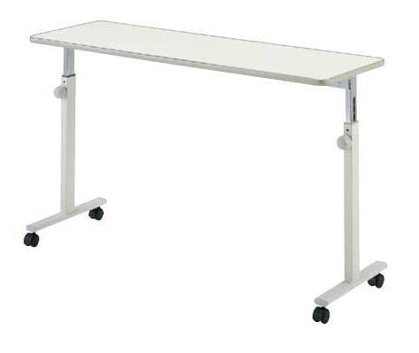 [パラマウントベッド] オーバーベッドテーブル ノブボルト調節式 移動ロック機能なし KF-813/KF-814 (対応ベッド幅:91cm/83cm)