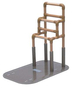 [矢崎化工] たちあっぷ CKA-05 置き型手すり 置くだけ 簡単設置 介護 布団 寝室 床 立ち上がり 階段状 重量22.5kg 手すり高さ70/75/80cm ヤザキ