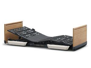 [パラマウントベッド] 超低床電動ベッド 楽匠FeeZ(フィーズ) 3モーター レギュラーサイズ 91cm幅 木製ボード KQ-7833 介護ベッド リクライニングベッド らくらくモーション 背あげ 膝あげ 高さ調