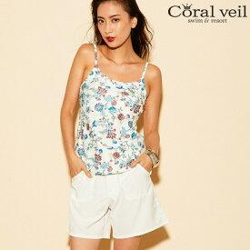 【Coral veil】無地 ショートパンツ S/M/L/XL 水着 みずぎ ミズギ ショートパンツ レディース水着