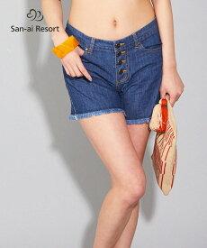 【San-ai Resort】ローライズ デニムパンツ S/M/L 水着 みずぎ ミズギ デニムパンツ レディース水着