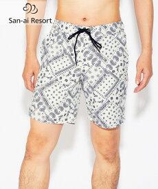 【SALE】 【San-ai Resort】Bandana Mix メンズ ボードショーツ M/L/LL 水着 みずぎ ミズギ ボードショーツ レディース水着