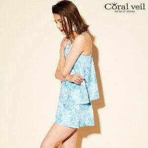 【Coralveil】タイダイペイズリータンキニ3点セット水着9号/11号/13号水着みずぎミズギ3点セット水着レディース水着