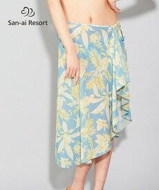 【San-ai Resort】Line tropical パレオ単品 F 水着 みずぎ ミズギ パレオ単品 レディース水着