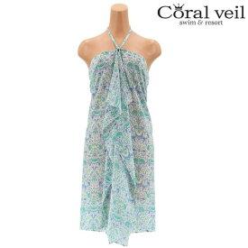【SALE】【Coral veil】LODDEN LIBERTY リバティプリント パレオ F 水着 みずぎ ミズギ パレオ レディース水着