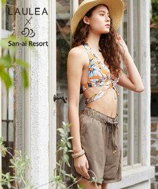 【LAULEA×San-ai Resort】Solid ショートパンツ M/L/LL 水着 みずぎ ミズギ ショートパンツ レディース水着