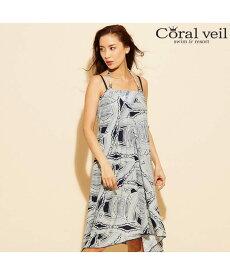 0bcbec53271d2d 【Coralveil】Africana タンキニ マキシ 3点セット水着 9号/11号/