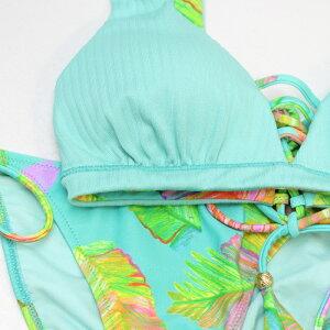 【AIPink】CheerLeaf×Ribリバーシブルショルダービキ二9号水着みずぎミズギビキ二レディース水着