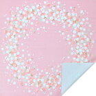90cm幅桜満開綿シャンタン風呂敷《ピンク》/大判ふろしきワイン重箱お弁当記念品贈り物御祝い京都さんび日本製
