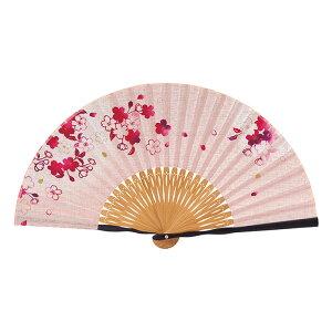 扇子セット (紙箱入り)桜あかりピンク 女性 扇子 プレゼント ギフト 贈答品 和小物 京都 京小物 さんび堂