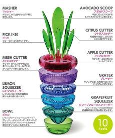 フルーツカッタースクイーザーすりおろしフルーツを食べるために必要な10種類セットフルーツプラント曙産業  CH-2009