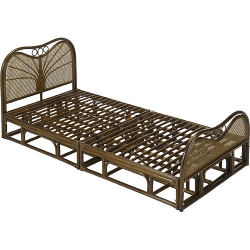 ベッドフレーム/シングル/籐すのこベッド/シングルサイズ Y916B Y-916B