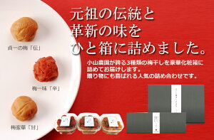 3種類組み合わせ 各250g和歌山紀州 みなべ産梅干し お試しセットメーカー直仕入れお中元 敬老の日 御歳暮