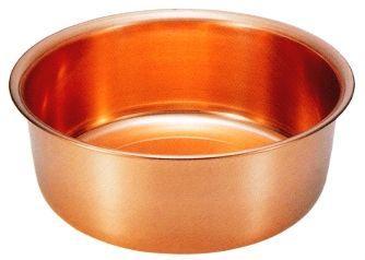 送料無料 純銅製 洗い桶 33cm S-9360
