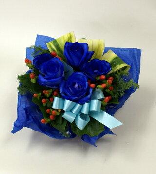 青いバラ&グリーンアレンジメント青バラ(薔薇)花言葉は・・・不可能/有り得ない/神の祝福/奇跡